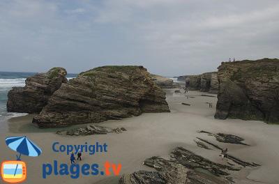 Plage à Ribadeo en Espagne - Galice