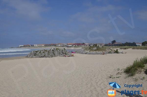 Photo de la plage de Ris à Noja - partie centrale