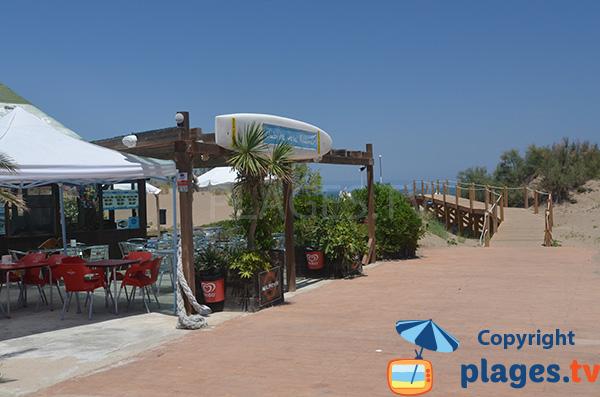 Restaurant sur la plage de Riuamar