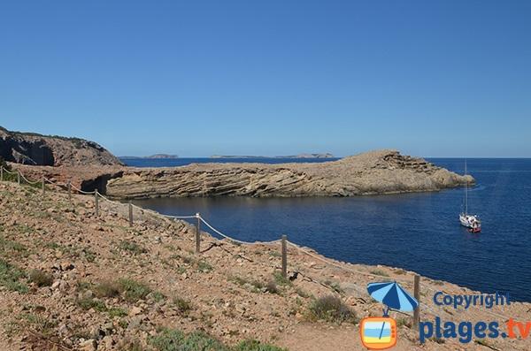 Vue depuis la Punta Galera - Ibiza