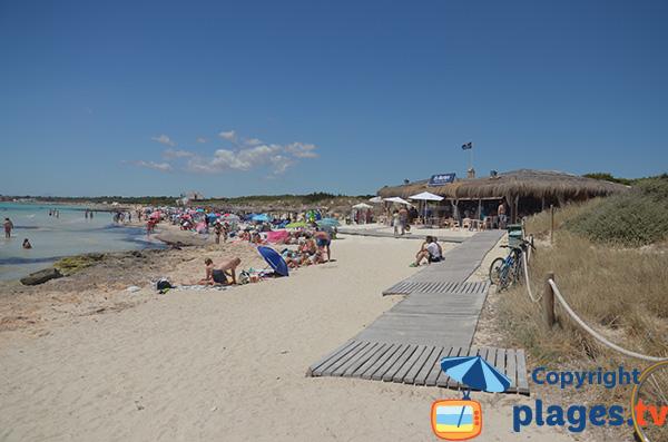 Restaurant sur la plage de S'Arenal à Ses Covettes - Majorque