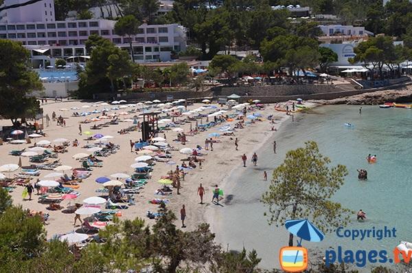 Photo de la plage S'Arenal Grand à Portinatx - Ibiza
