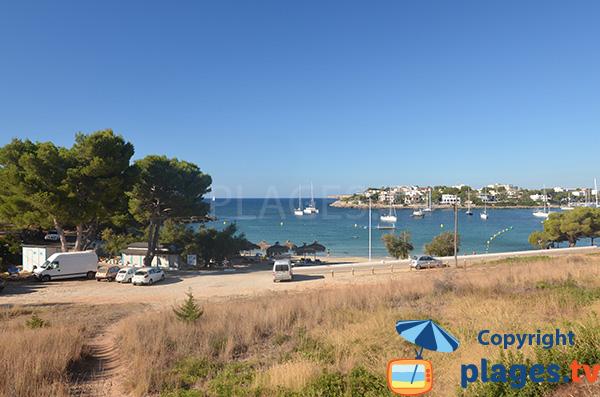 Photo de la plage S'Arenal à Portocolom sur l'ile de Majorque - Baléares