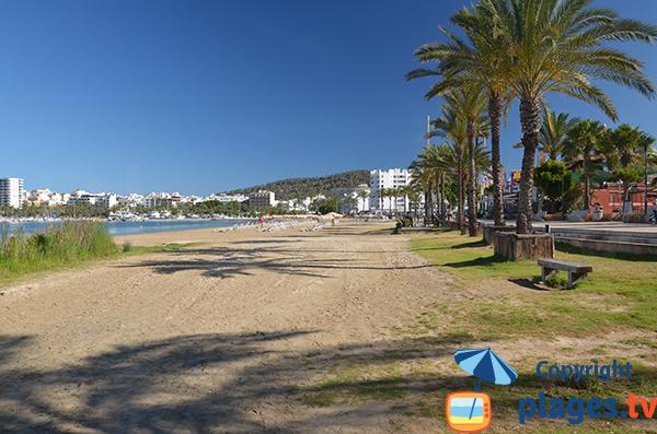 Grande plage de Sant Antoni de Portmany - Ile d'Ibiza