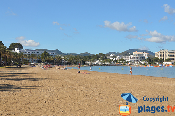 Extrémité sud de la plage d'Arenal à Sant Antoni de Portmany - Ile d'Ibiza