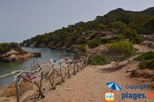 Littoral sur la route du Cap Es Pinar à Majorque - Baléares