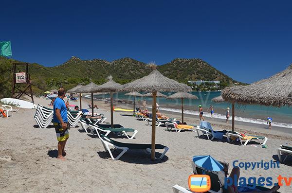 Location de chaises longues sur la plage de Costa dels Pins