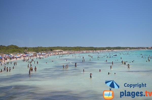 Baignade en pente douce à Majorque - Sa Rapita