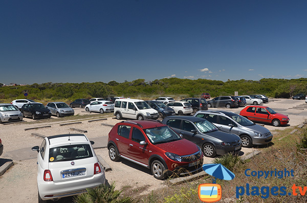 Parking de la plage d'El Saler