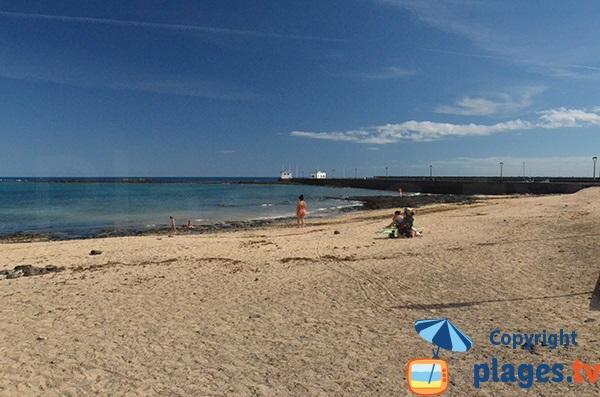 Photo de la plage de San Gabriel à Arrecife - Lanzarote