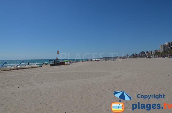 Plage de San Juan à Alicante en Espagne