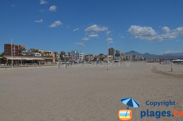 Bord de mer au niveau de la plage de San Juan à Alicante