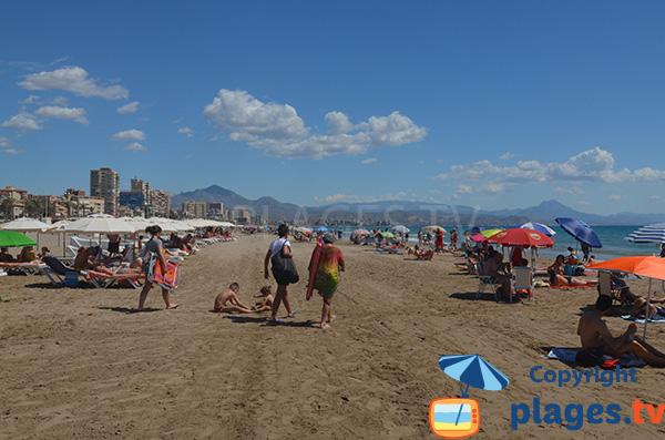 Belle plage à Alicante