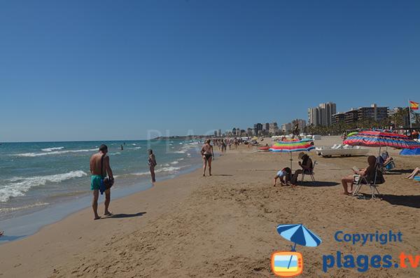 Grande plage à Alicante