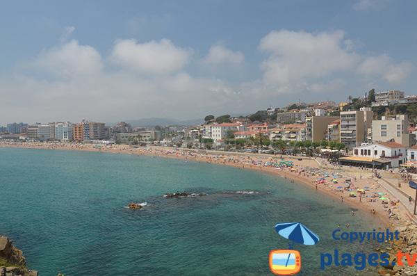 Grande plage de St Ababell à Blanes - Espagne
