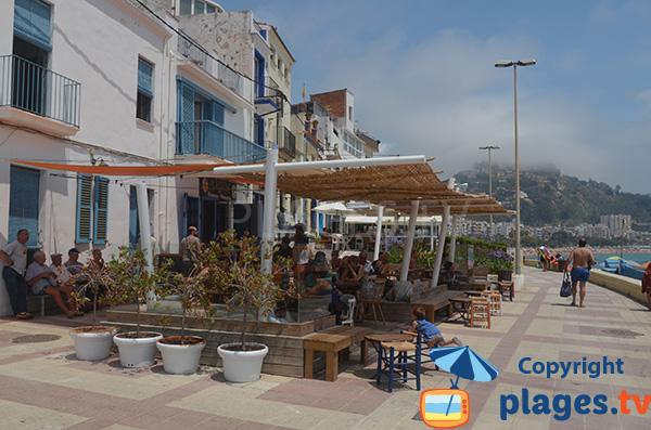 Restaurants entre les deux plages de Blanes en Espagne