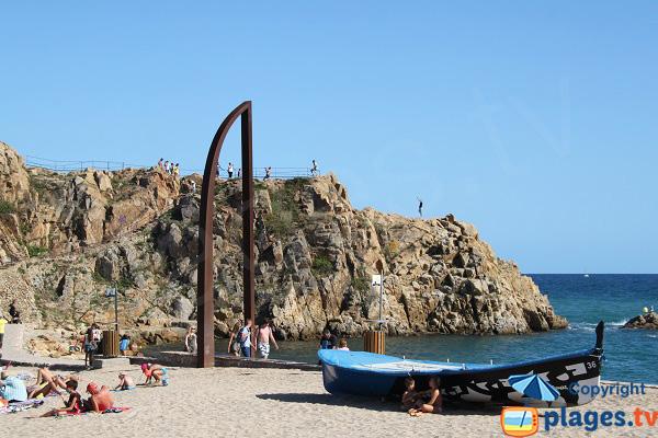 Frontière entre la Costa Brava et la Costa Maresme - Espagne