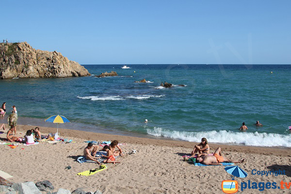 Baignade à Blanes sur la Costa Brava en Espagne