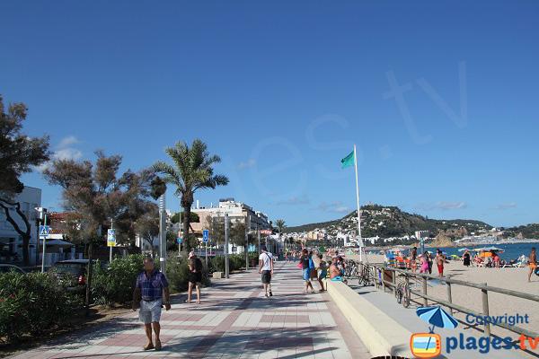 Photo de la plage de Sant Abanell à Blanes en Espagne