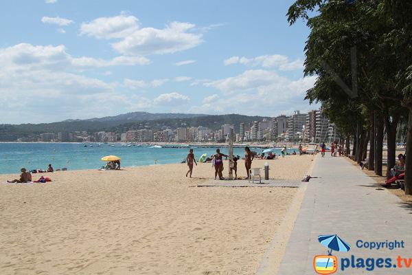 Douches sur la plage de Sant-Antoni en Espagne