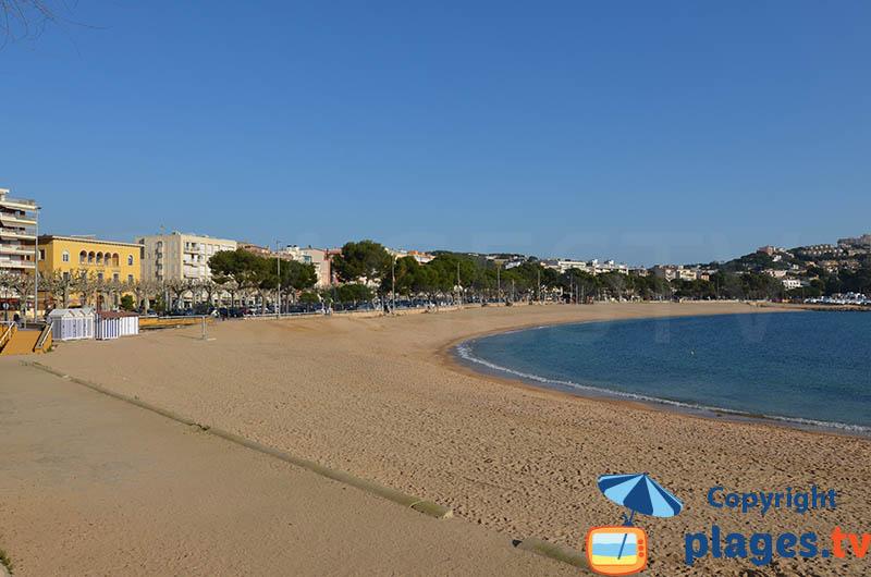 Grande plage de Sant Feliu de Guixols