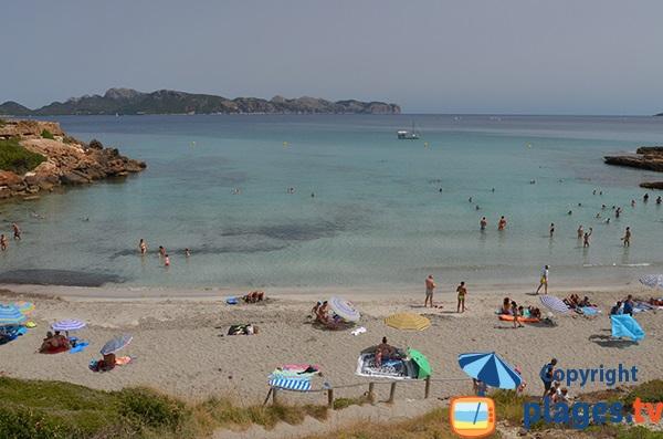 Baie de Pollença depuis la plage de Sant Joan - Alcudia