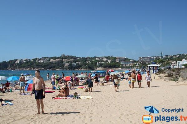 Photo de la plage de Sant Pol à Sant Feliu de Guixols en Espagne