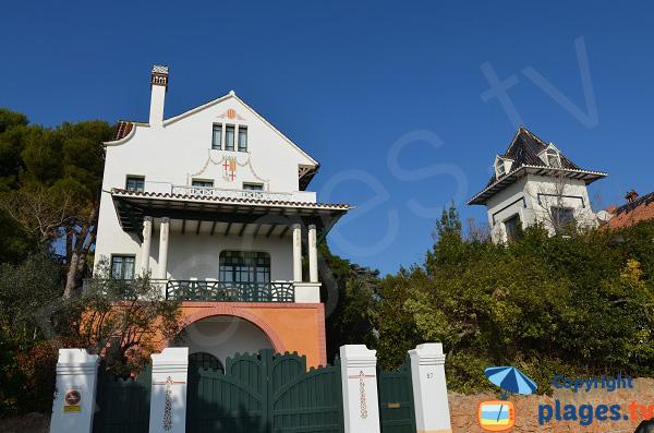 Villas sur le bord de mer de Sant Pol à Sant Feliu de Guixols