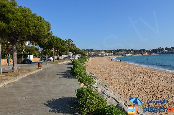 Plage de Sant Pol à Sant Feliu de Guixols hors saison