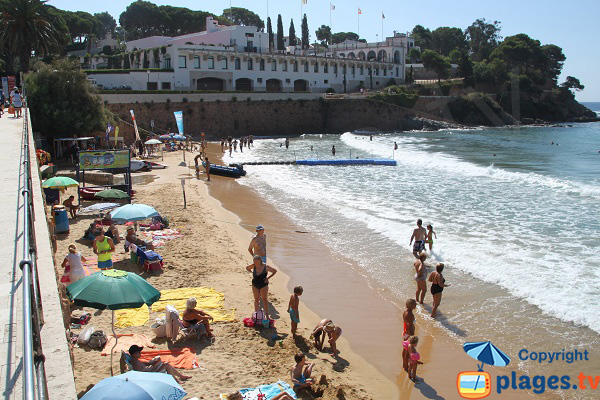 Zone de gauche de la plage de Sant Pol - Sant Feliu de Guixols