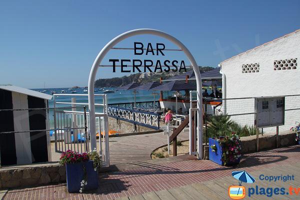 Restaurant sur la plage de Sant Pol à Sant Feliu de Guixols