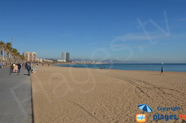 Photo de la plage de Sant Sebastia à Barcelone