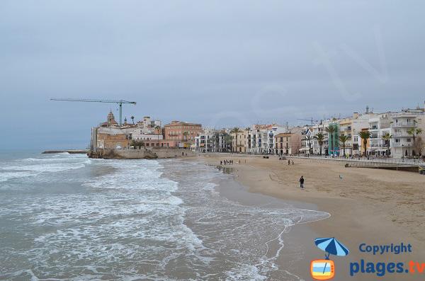 Sant Sebastia beach in Sitges - Spain