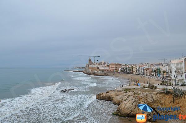 Photo of Sant Sebastia beach in Sitges - Spain