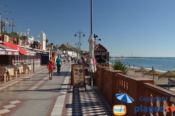 Restaurants le long de la plage de Santa Ana - Benalmadena