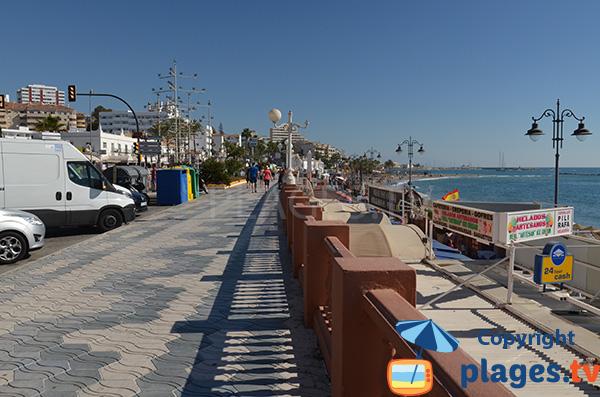 Parking de la plage de Santa Ana - Benalmadena
