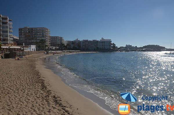 Plage de Santa Eulalia à Ibiza