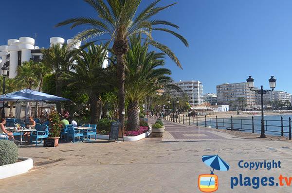 Restaurant sur le bord de mer de Santa Eulalia Des Ríu - Ibiza