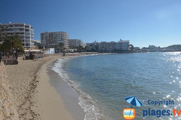Plage de Santa Eulalia des Riu à Ibiza