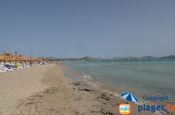 Location de matelas sur la plage de Santa Margalida