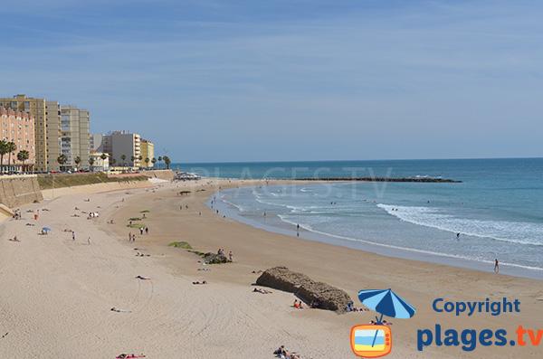 Plage de Santa Maria del Mar à Cadix