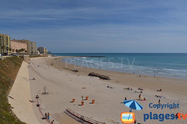 Photo de la plage de Santa Maria del Mar à  Cadix