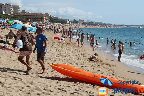 Photo de la plage de Santa Susanna en Espagne en Catalogne