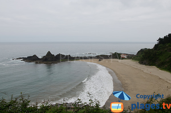 Plage de Saturraran à Mutriku - Plage naturiste