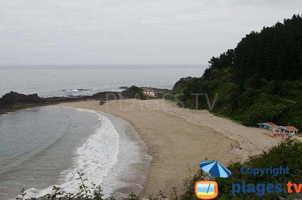 Photo de la plage de Saturraran à Mutriku - Pays Basque espagnol