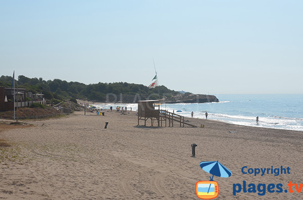 Zone naturiste de la plage de Savinosa à Tarragone