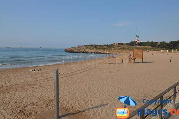 Photo of Savinosa beach in Tarragona in Spain
