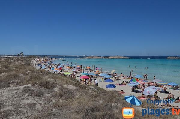 Plage de Ses Illetes à Formentera
