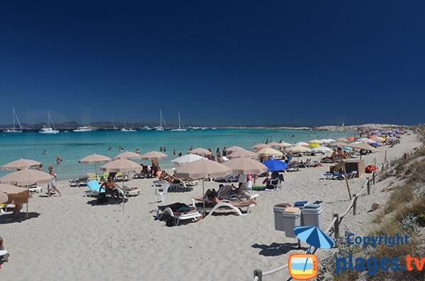Plage de sable à Formentera - Ses Illetes