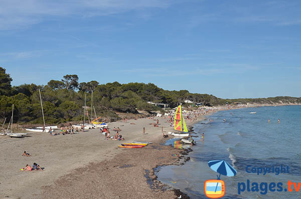 Plage de Ses Salines à Ibiza